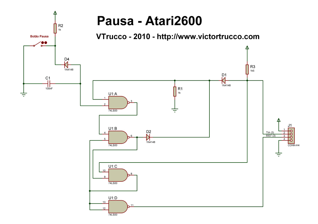 a pause button for the atari 2600 rh victortrucco com Sega Genesis Sega Genesis